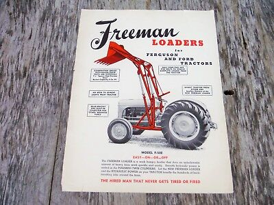 Vintage Freeman Loader For Ford And Ferguson Tractor Tractors Brochure