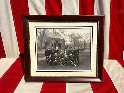 Vintage Turn of the Century Baseball Team Photograph 8x10 Framed Antique Yonkers