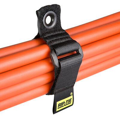 Rip-Tie CinchStrap with Grommet, 1 Inch Wide, 7 Inch Long, 10-Pack