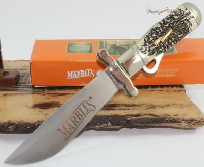 Marbles Stag Bone Hunting Skinning Safety Folder Folding Bowie Knife