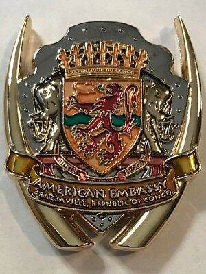 USMC MSG Marine Security Guard Detachment Brazzaville, Congo Challenge Coin