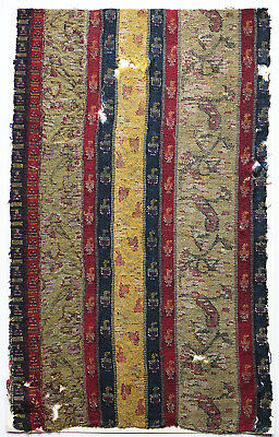 18-19C Antique Textile Fragment - Printed Cotten, Dyeing and Weaving