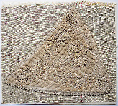 13-15C Antique Textile Fragment -Dyeing and Weaving 6