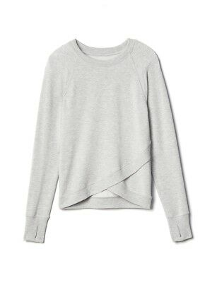 Athleta Girl NWOT Criss Cross My Heart Sweatshirt M (8-10) MSRP $39