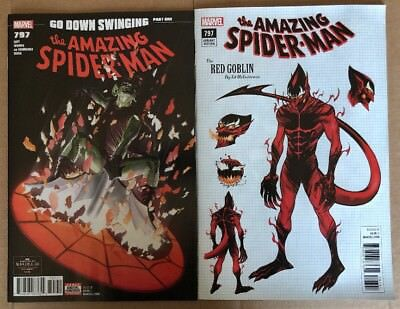 Amazing Spider-man #797 Cover A & 1st Red Goblin 1:10 Variant NM 9.2 Or Better