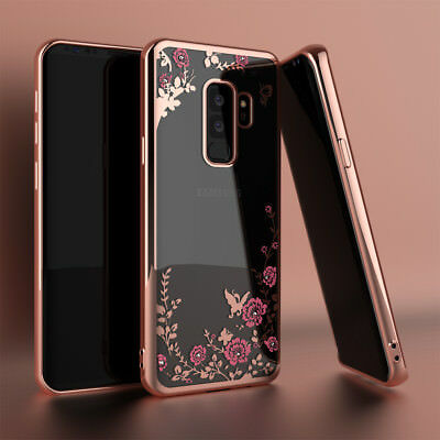 For Samsung Galaxy S9/S9 Plus Cute Glitter Liquid Quicksand Clear Case TPU Cover