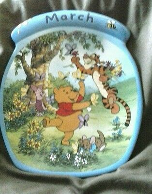 "Winnie the Pooh ""March "" plate The Whole Year Through series"