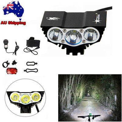Super Bright 20000LM X2 X3 XML T6 LED Bike Bicycle MTB Head Light Lamp Battery
