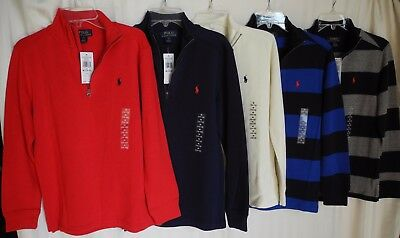 NWT Boys Polo Ralph Lauren French-Rib Half-Zip Sweater,    Size  M(10-12)