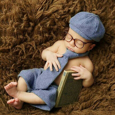 Newborn Baby Photography Props Boy Gentleman Set Costume Clothing Studio Shoot