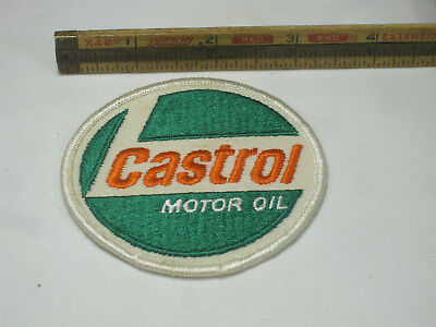 "Castrol Motor Oil Cloth Patch Round 3"" Vintage"