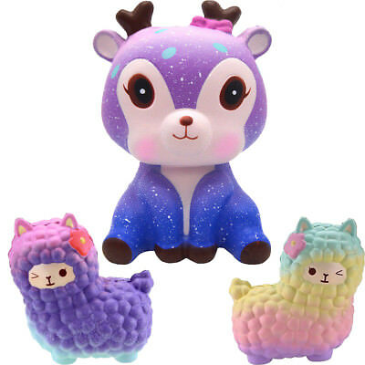 Jumbo 12cm Squishy Alpaca Galaxy Super Slow Rising Cream Scented Sky Animal Toys
