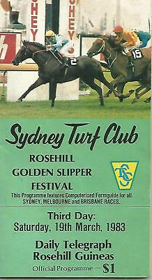 1983 Rosehill Guineas Racebook (MANIKATO~STRAWBERRY ROAD )