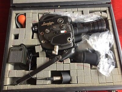 VINTAGE 16 MM BEAULIEU R16 MOVIE CAMERA W/ ANGENIEUX PAIRS ZOOM 12.5-75mm LENS