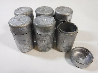 Set of 6 small Lead Pigs for Radiation Shielding Radioactive Storage Container