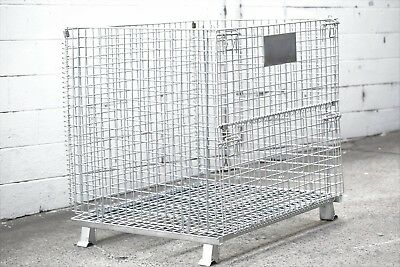 Collapsible, Lockable, Stackable, Folding Wire Mesh Stillage, Galvanised Sydney