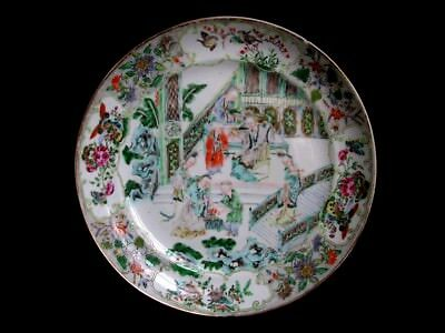 Ancienne assiette Chine Chinoise China Famille verte Dynasties Qing XVIIIeme