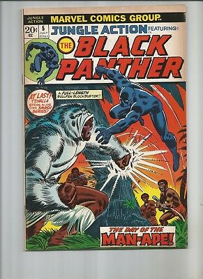 Jungle Action #5 First SOLO Appearance of the Black Panther Nice Book VF