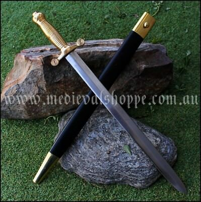 French Artillery Sword - Superb solid brass grip & pommel, with scabbard sharp