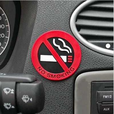 NO SMOKING Sign Tips 1 PCS For Home Warning Logo Rubber Car Office Z