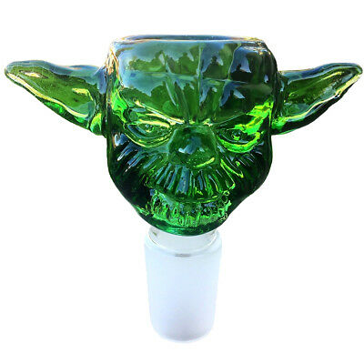 14mm Star Wars Yoda Green Glass Bowl Male Joint for Bongs Water Hookahs oven