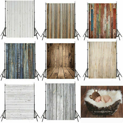 Newborn Baby Photography Props Blanket Rugs Vintage Wood 3x5ft Photo Backdrops
