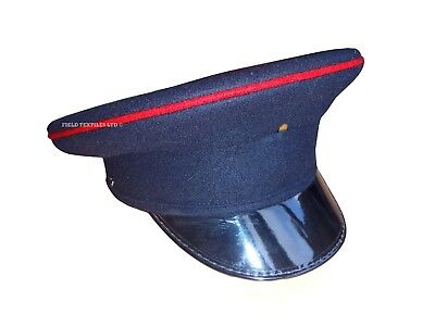 Navy Blue Army Peaked Cap - Men's - Army/Military - Used - Large - SP4374