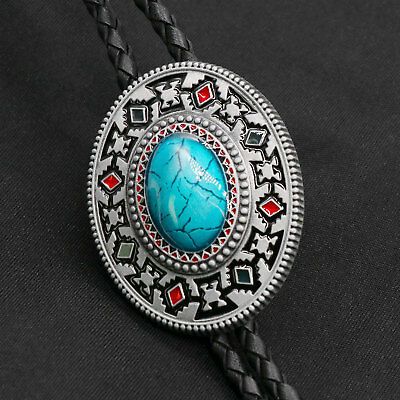 3172df4126 NEW ARTICAL HEART Original Western Cowboy Middle Turquoise Bolo Tie Mens  Fashion