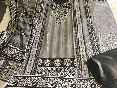 Pakistani designer  Cotton Cambric UN-STITCHED SHALWAR KAMEEZ SUIT Asian