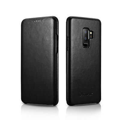 ICARER Luxury Genuine Leather Magnet Flip Case Cover For Samsung Galaxy S9+ Plus