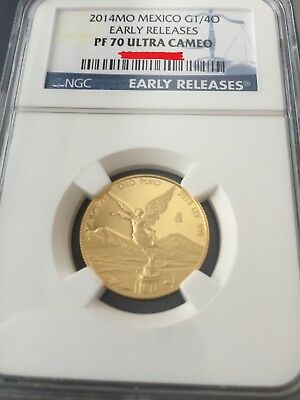2014 Mexico 1/4oz Gold Proof Libertad NGC PF70 ultra cameo early releases coin