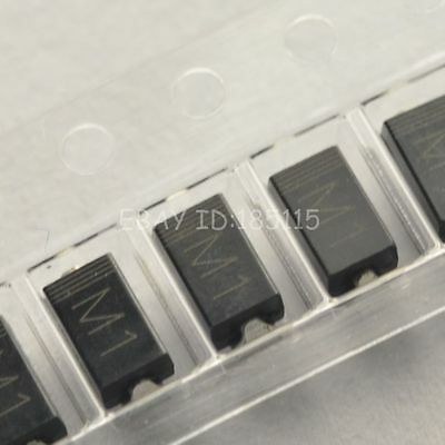 500PCS 1N4001 IN4001 M1 1A/50V SMA DO-214AC SMD Rectifier Diode