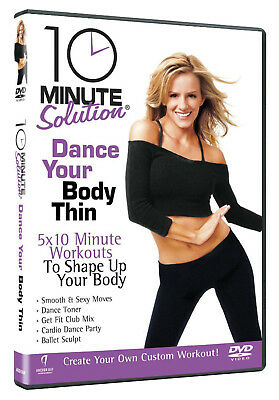 10 MINUTE SOLUTION DANCE YOUR BODY THIN DVD Exercise Workout Fitness UK New R2