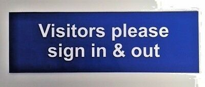 All staff and visitors please use hand sanitiser before entering Safety sign 1.2mm Rigid plastic 300mm x 200mm