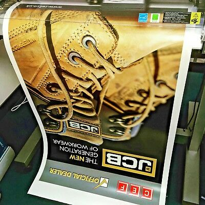 Custom Laminated Posters Personalised Printed Promo A1 A2 A3 200Gsm Paper