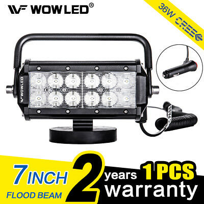 WOW - Portable Magnetic Base 36W LED Work Light Bar Offroad Truck Boat 4WD Camp