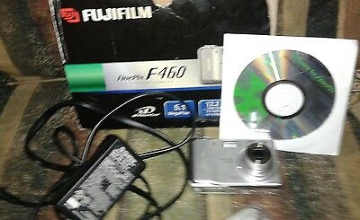 Lot Fujifilm  F460  Camera, Charger, Software Included No Battery  Untested Read
