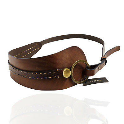 XX Secolo Cintura in Cuoio con Ricamo Donna Women's Leather Belt Tg.90