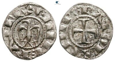 Savoca Coins Medieval Silver Coin Denar Cross Eagle 0,58 g / 15 mm §SAC4757