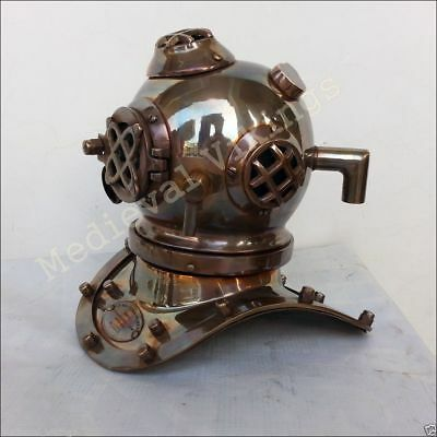 Collectible Brass US Navy Antique Divers Diving Helmet Vintage Style Scuba Gift