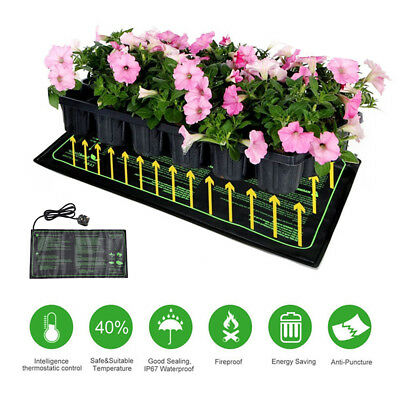 Heated Propagator Seed Hydroponic Seeding Germination Heat Mat Reptile Plant Pad