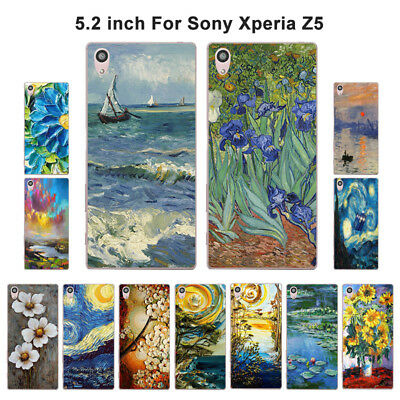 "5.2"" Soft TPU Silicone Case For Sony Xperia Z5 Phone Back Cover Skin Retro"