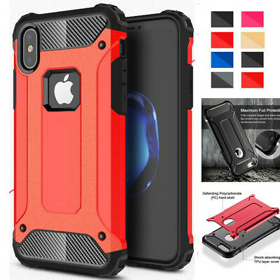 Hybrid Heavy Duty Rugged Silicone SHOCKPROOF Case Cover for iPhone X 8 Plus SE