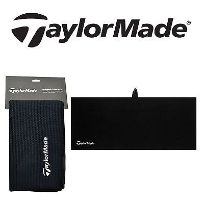 "Golf Taylormade Microfiber Cart Towel Black 15"" X 24"" (38cm X 61cm) NEW"