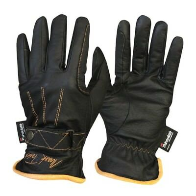 Mark Todd Winter Leather Riding Gloves Thinsulate Fleece Lined - Ladies & Mens