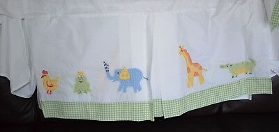 Pottery Barn Kids Alphabet Soup Animal Frog Prince Crib Skirt