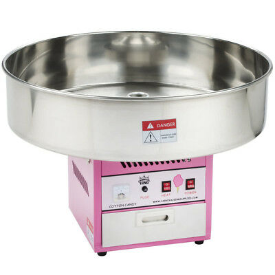 "Carnival King Commercial Cotton Candy Machine Countertop Maker 28"" Round Bowl"