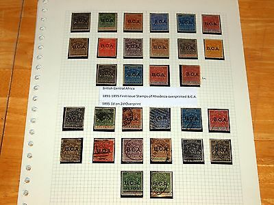 B.C.A Nyasaland QV-QEII Fine Mint & Used Stamp Collection on Pages Nice Lot