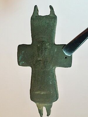 BYZANTINE BRONZE CROSS,Ancient Roman Artifacts