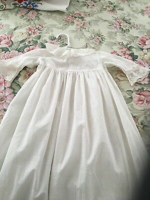 Gorgeous Antique Long Infant Christening Gown Dress French Lace